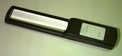 Picture of a handheld magnifier.