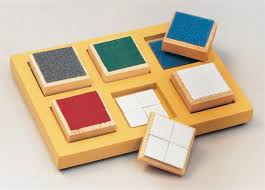 The blocks and tray.