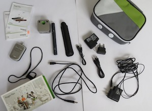 Components of the device.